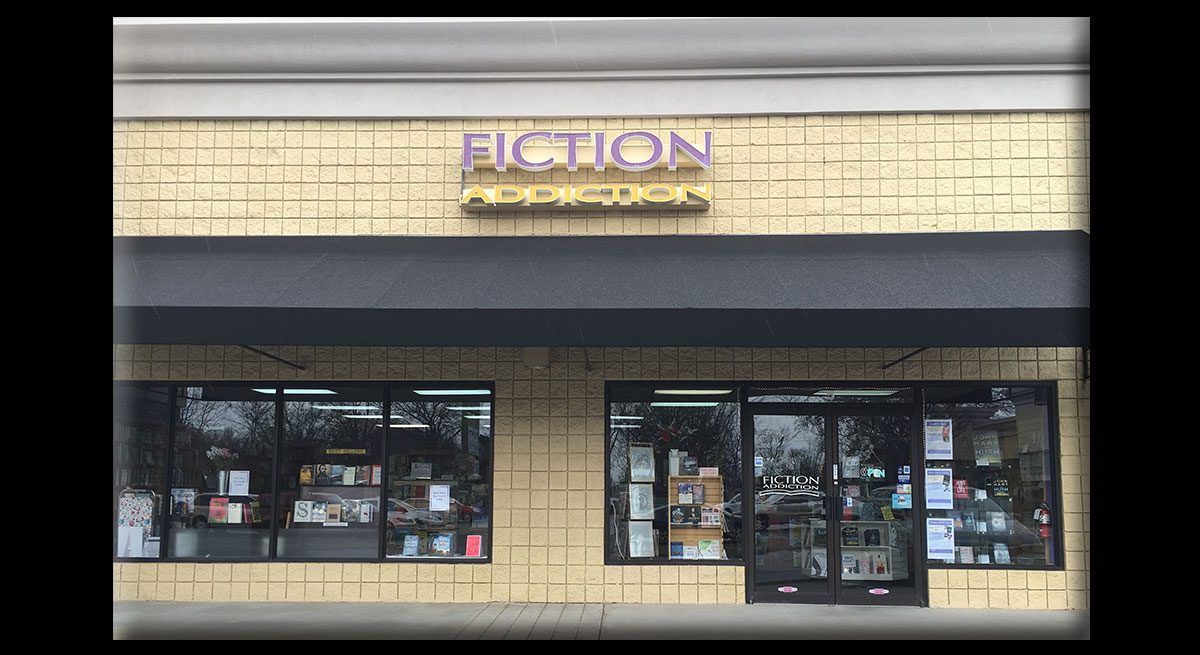 This is the storefront of Greenville, South Carolina's bookstore, Fiction Addiction.